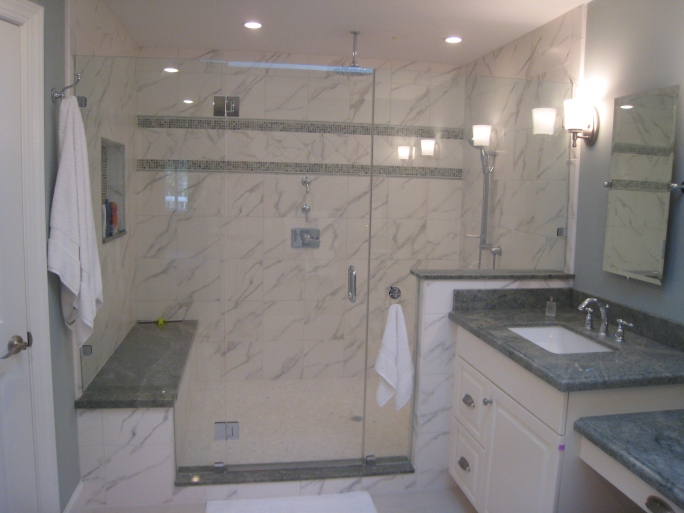 Bluffs Remodel - Ocean Pines Terrace - Master Bathroom